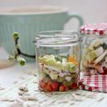 Avocado Eier Salat, Eiersalat, Spargelsalat