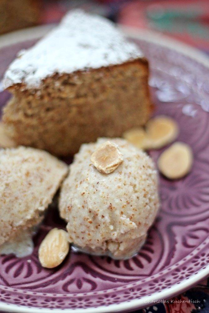 Mallorquinischer Mandelkuchen, Mandeleis, mallorquinisches Dessert, Camp de Mar, Torre Andritxol