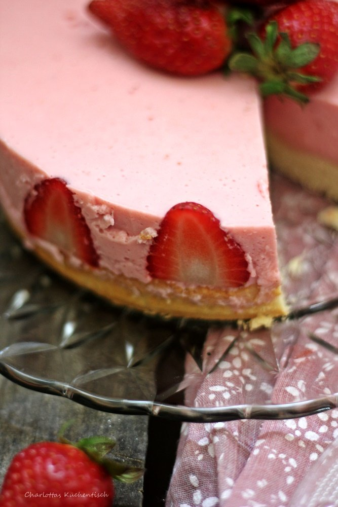 Erdbeer Joghurt Torte, Erdbeeren, Sommerkuchen, Sommer, Joghurttorte