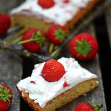 Erdbeer Quark Kuchen, schneller Kuchen