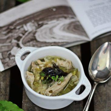 Cock-a-leekie soup (die schottische Küche ist gar nicht schlecht)