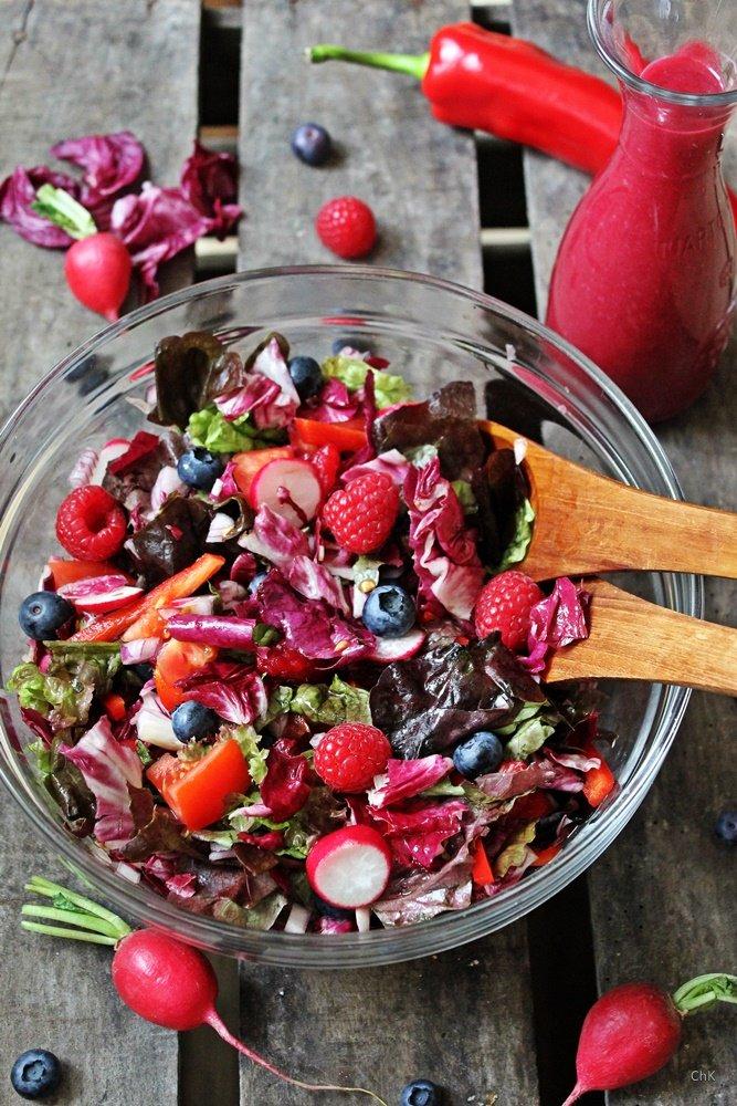 Roter Salat, Zapfhahn Dortmund, Rote Beete, Himbeeren, Blaubeer Balsam, Rezept, Einkaufstipp