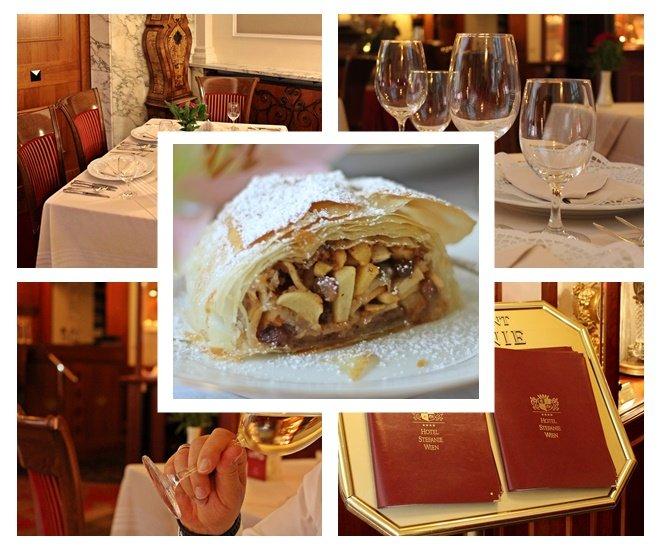 Apfelstrudel, Alt-Wiener Schmankerlreise, Restaurant Stefanie Wien