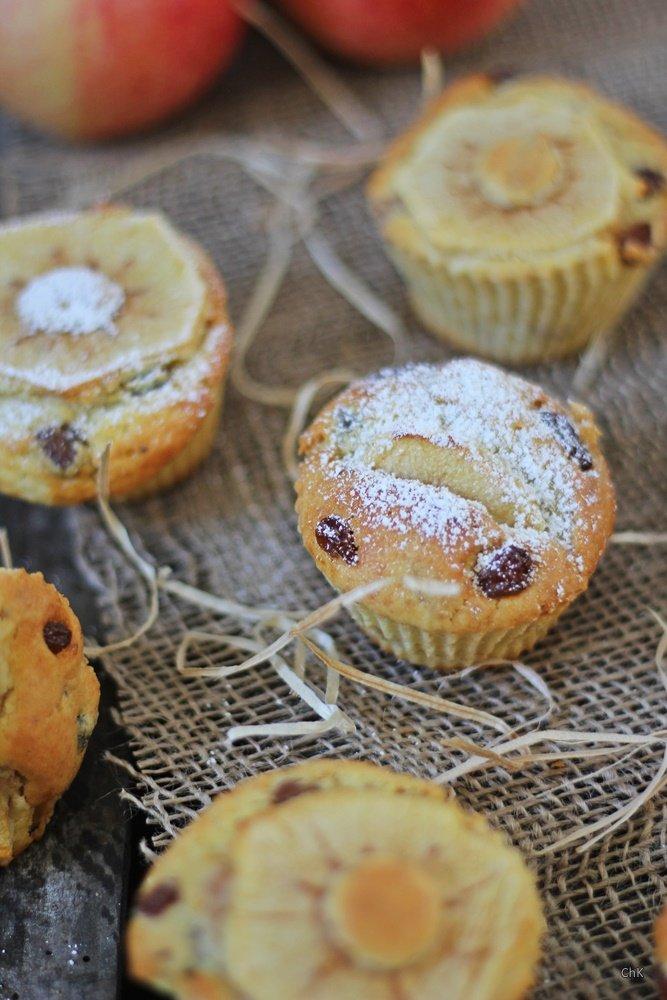 Bratapfelmuffins, Muffins, Apfelkuchen, Rezept, Backen, Bratapfel