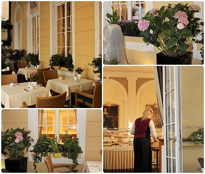 Frühstück Garten Stefanie Wien