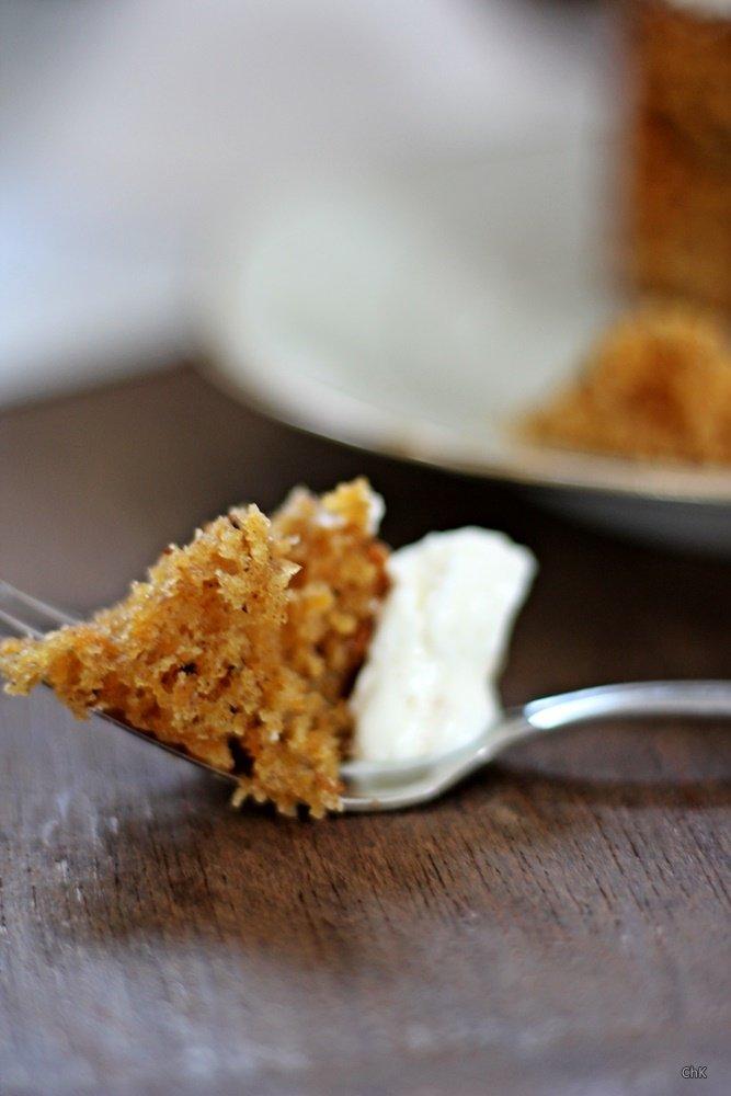 Möhrenkuchen mit Walnüssen und Frischkäsetopping, Backen, Rezept,