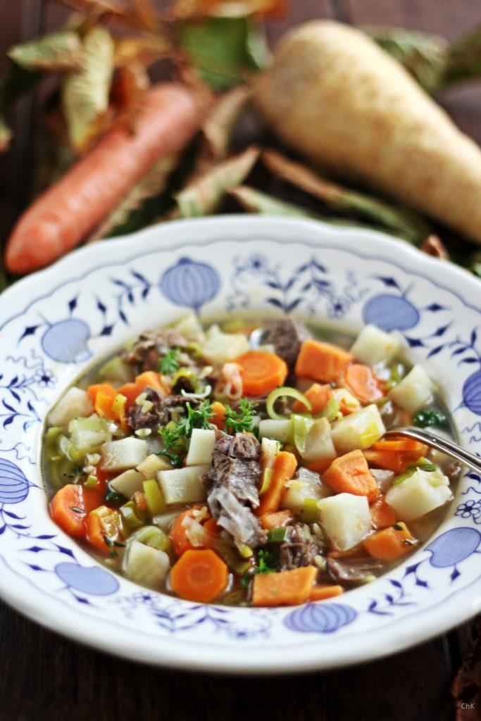 Rindfleischsuppe, Wintersuppe, Suppe, Kochen, Rezept