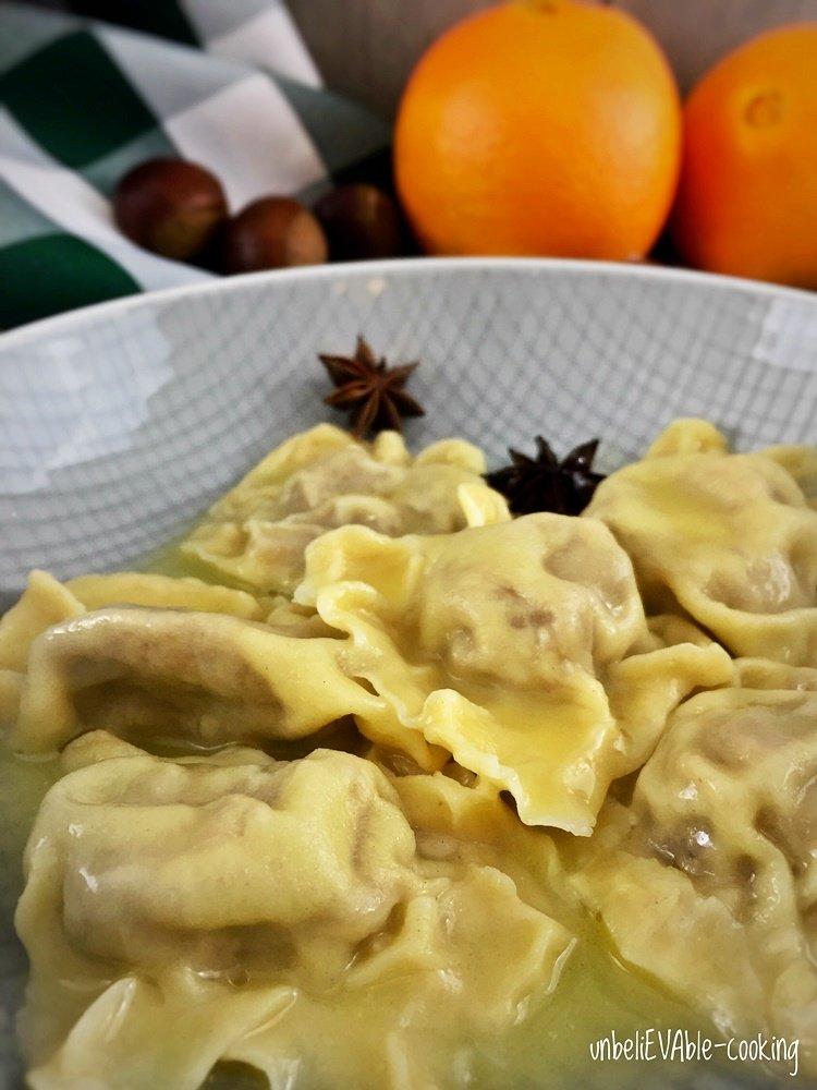 maroni-ravioli-orangenbutter, blogevent, weihnachten ist überall, ravioli, maroni