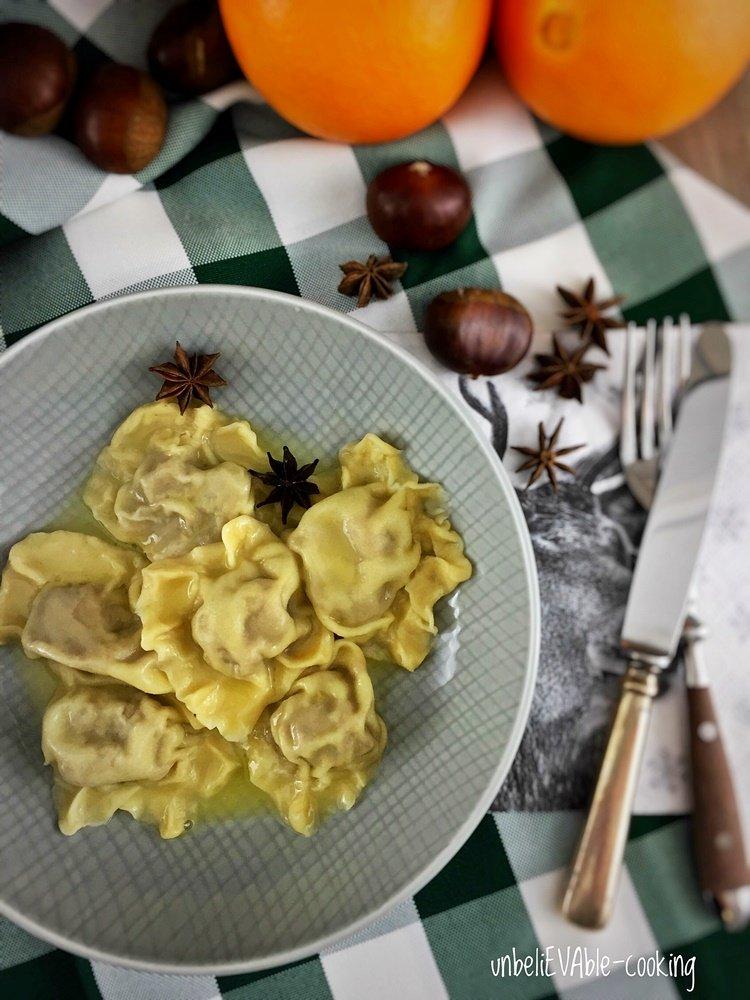 Ravioli, Maronimus, Orangenbutter, Blogevent, Weihnachten ist überall