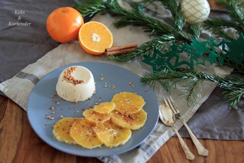 Blogevent, Dessert, Weihnachten ist überall, Panna Cotta, Orangen, Nusskrokant