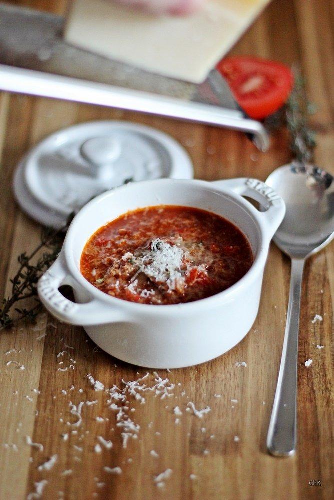 Tomaten-Bolognese-Suppe, Suppe, Rezept, Bolognesesuppe, Tomatoblend,