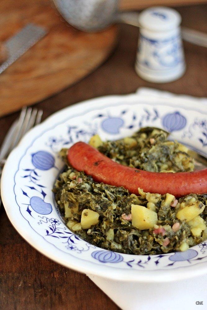 Grünkohleintopf, Eintopf, Suppe, Grünkohl, Winterküche, herzhaft