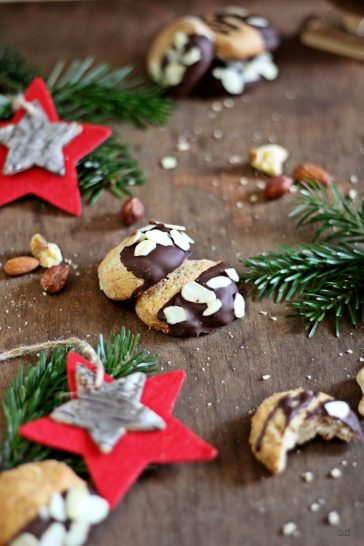 Marzipan Mandel Plätzchen, Weihnachten, Weihnachtsbäckerei, X-Mas