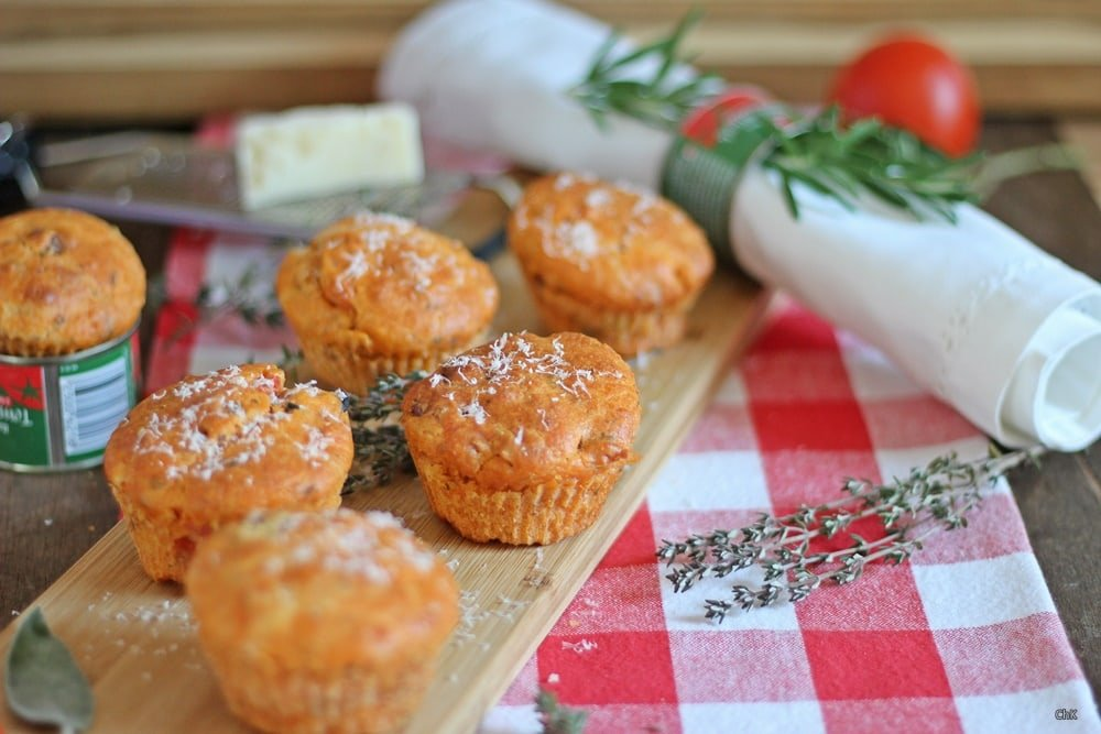 Pizzamuffins, Parmesan, Muffins, Fingerfood, Partyfood