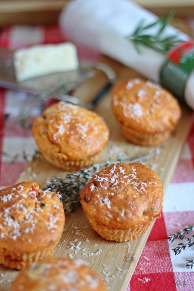 Pizzamuffins, Parmesan, Muffins, Fingerfood, Partyfood