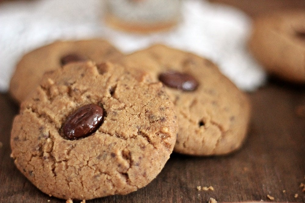 Kaffeecookies, Cookies, Backen, Rezept, Mokkabohne, Plätzchen, Karamell