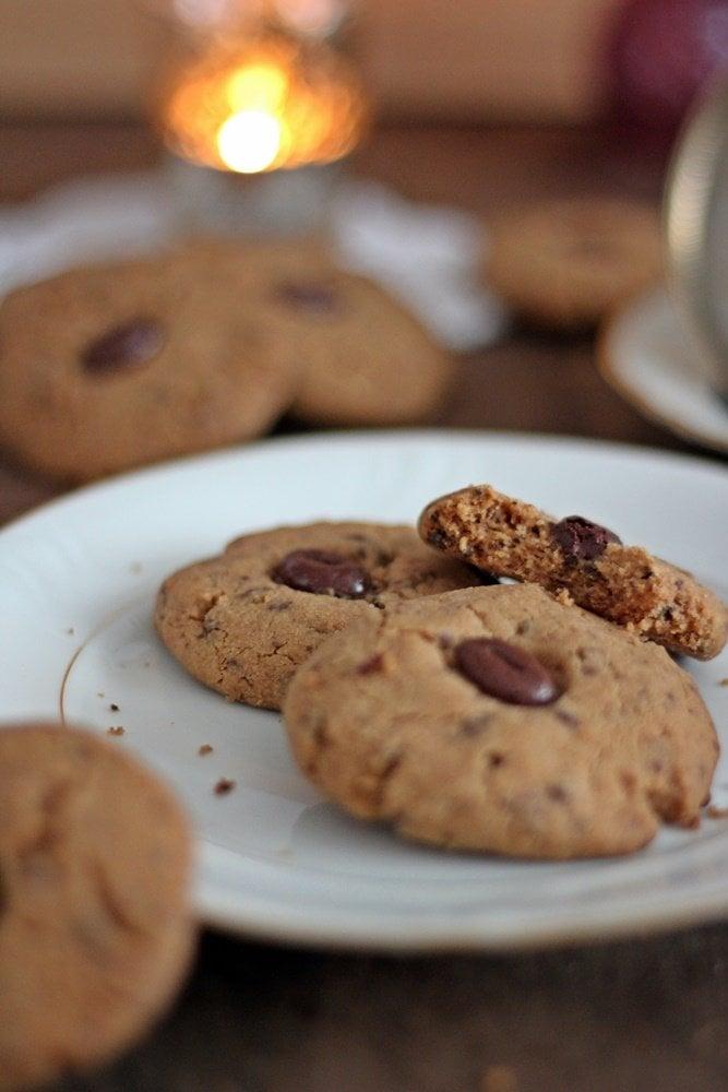 Kaffeecookies, Cookies, Backen, Rezept, Mokkabohnen, braune Butter