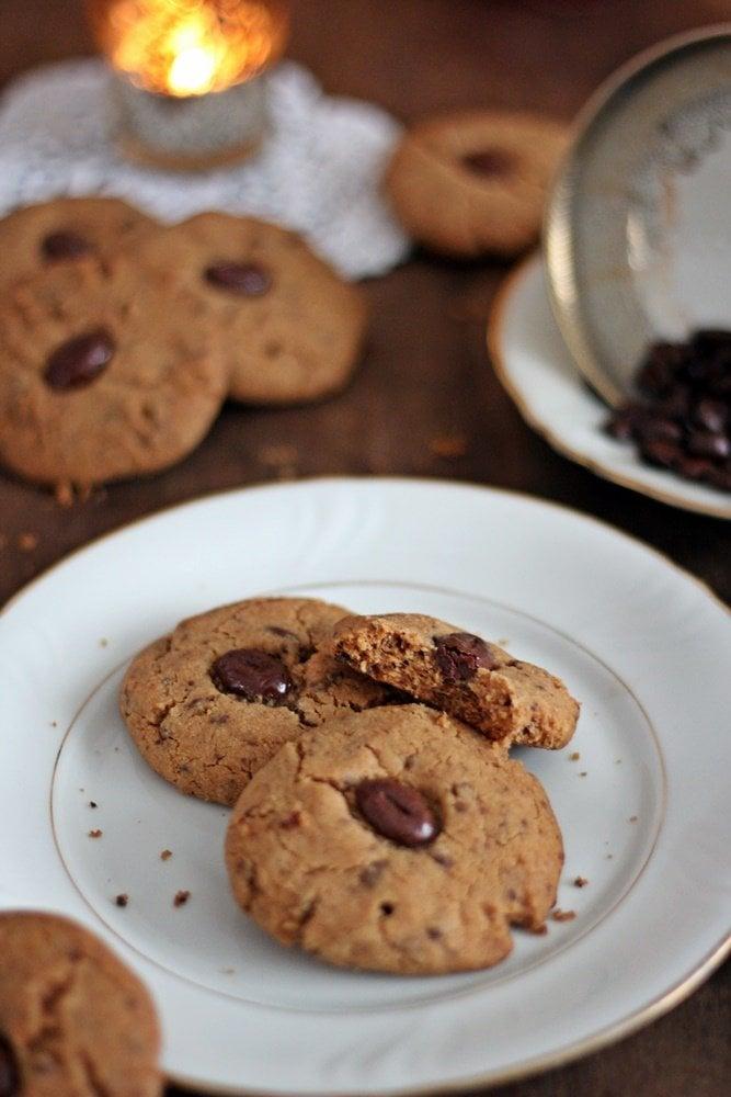 Kaffeecookies, Cookies, Backen, Rezept, Mokkabohnen, Plätzchen