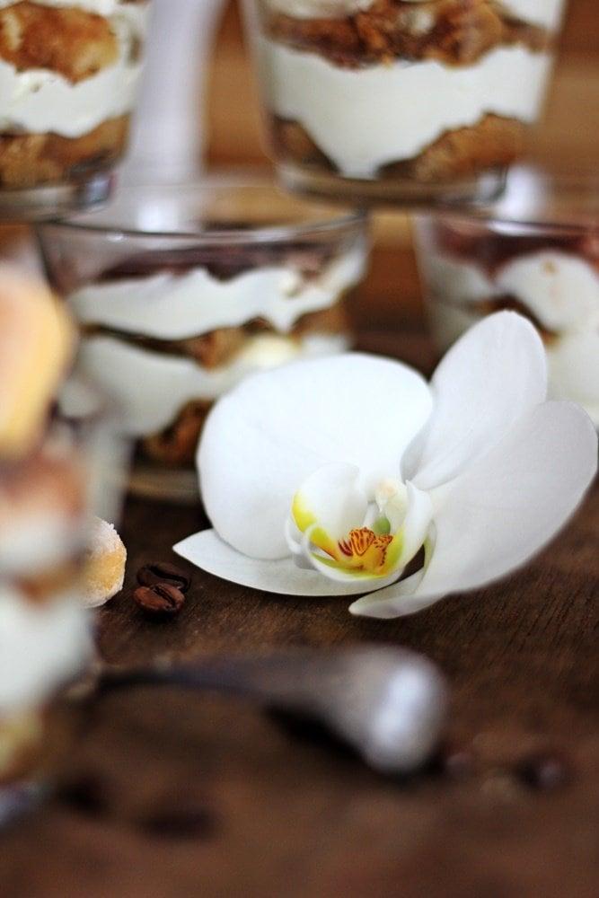 Tiramisu ohne Ei, Rum, Kaffee, Nachspeise
