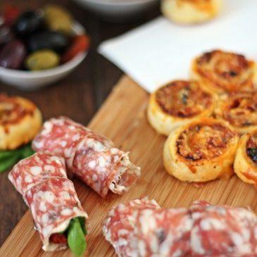 *Werbung unbezahlt* Pikante Salami Snacks – perfekt zu einem Glas Rotwein
