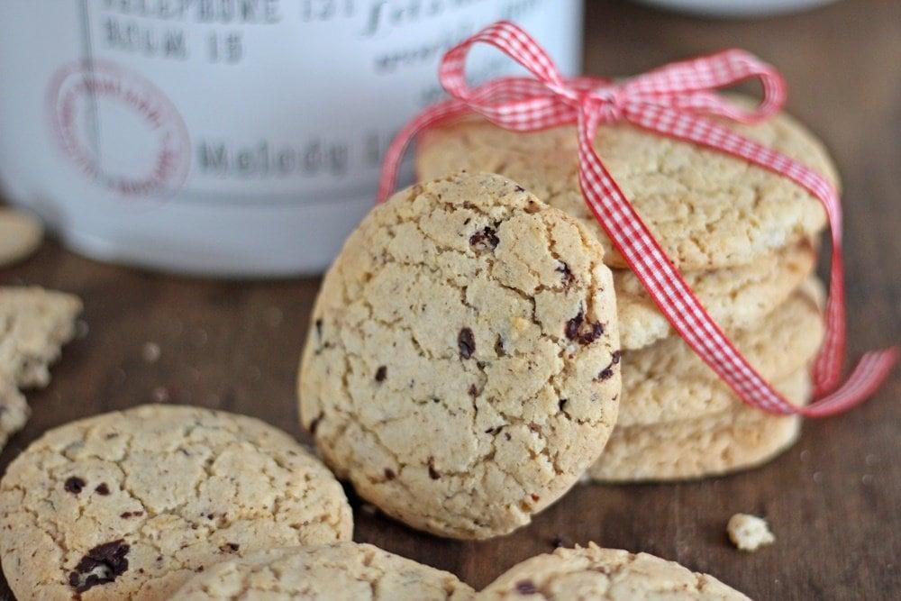 Cookies, Weihnachtsbäckerei, Nuss-Orangen-Cookies, Rezept, Backen