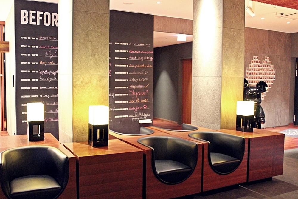 Lobby im me and all hotel düsseldorf