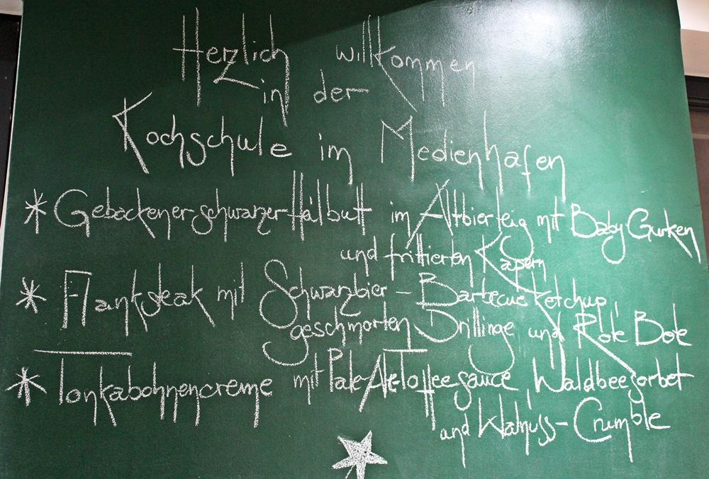 Menüfolge Kochschule im Medienhafen in Düsseldorf